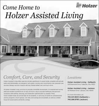 Come Home to Holzer Assisted Living
