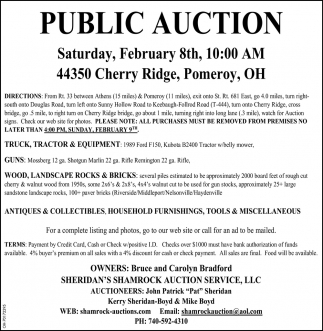 Public Auction - February 8th