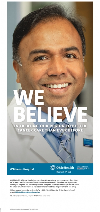 We believe in treating our region to better cancer care than ever before
