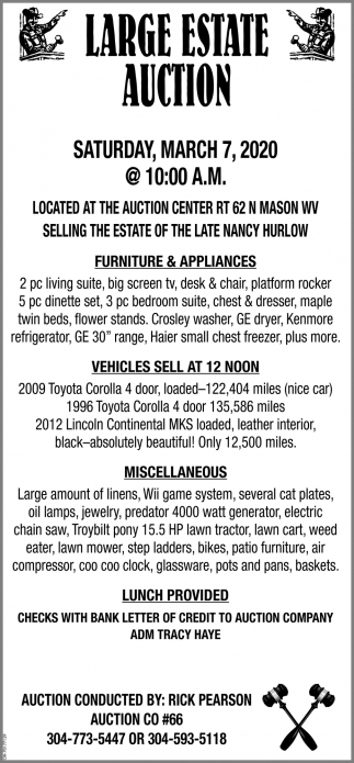Large Auction - March 7