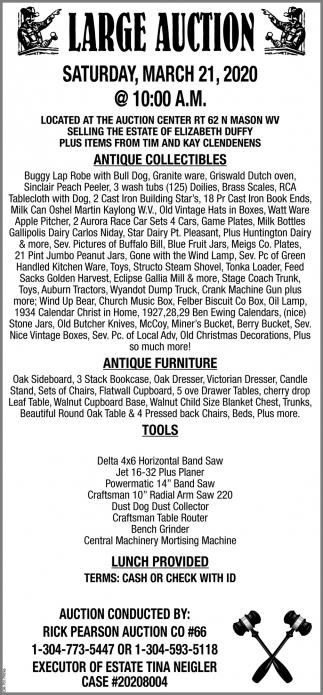 Large Auction - March 21