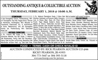 Outstading antique & collectible auction