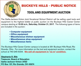 Tool and Equipment Auction