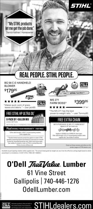 Real People. Stihl People.