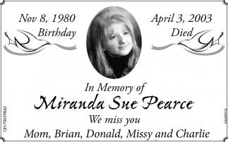 Miranda Sue Pearce