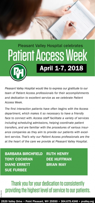 Patient Access Week