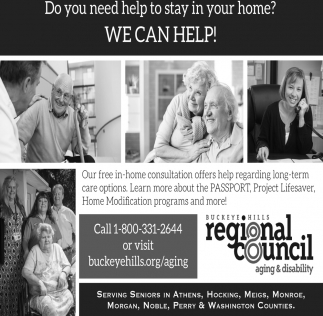 Do you need help to stay in your home? We can help!