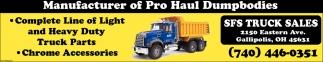 Manufacturer of Pro Haul Dumpbodies