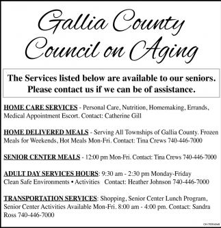 services, gallia county council on aging