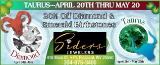 20% off Diamond & Emerald Birthstones!