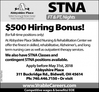 State Tested Nursing Assistant