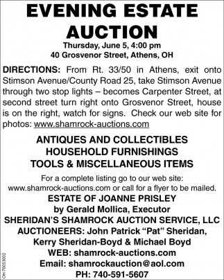 Evening Estate Auction