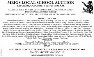 Meigs Local School Auction