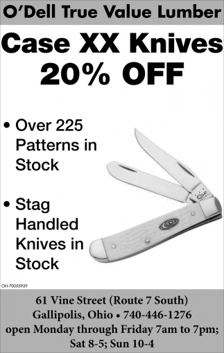 Case XX Knives 20% off