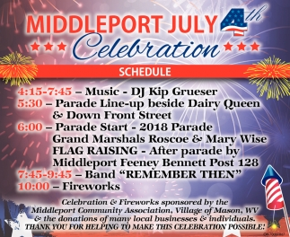 Middleport July 4th Celebration