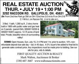 3202 Raccoon RD. Gallipolis, OH