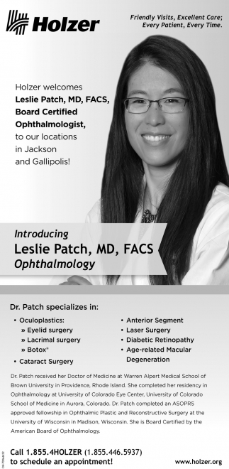 Leslie Patch, MD, FACS. Ophthalmologist