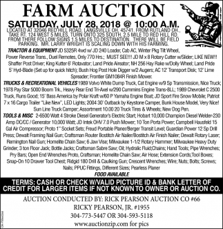 Farm Auction