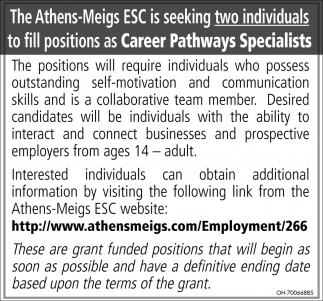 Career Pathways Specialists