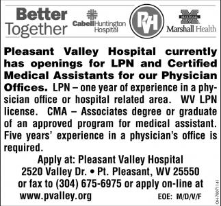 LPN / Certified Medical Assistants