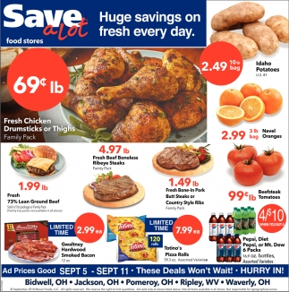Huge savings on fresh every day