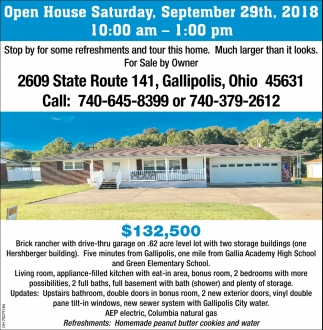 2609 State Route 141, Gallipolis, Ohio