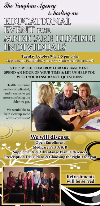 Educational Event for Medicare Eligible Individuals