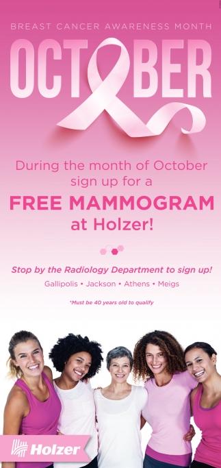 Free Mammogram