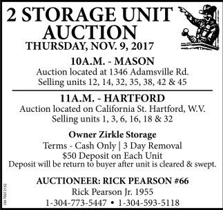2 Storage Unit Auction
