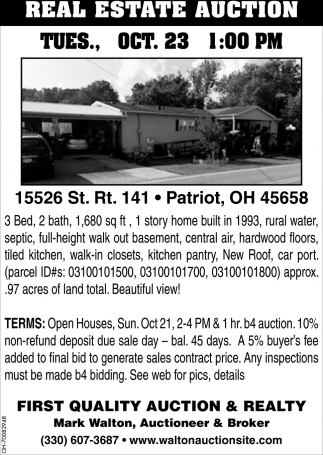 15526 St. Rt. 141, Patriot, OH