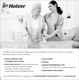 Senior Services at Holzer