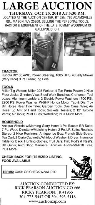 Tools, Tractor & Equipment