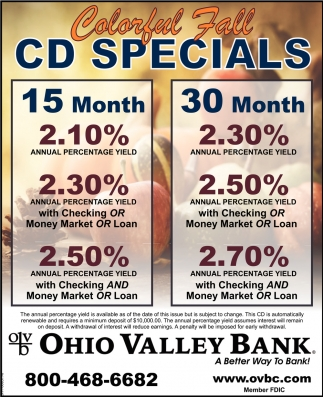 Colorful Fall CD Specials