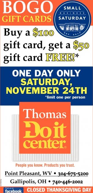 Bogo Gift Cards