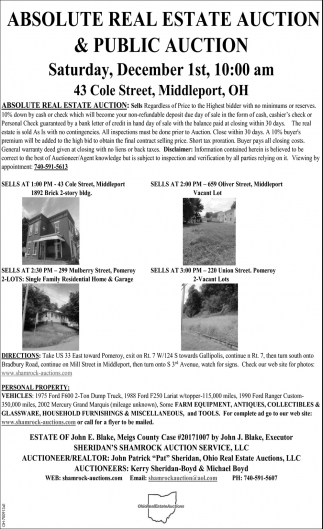 Absolute Real Estate Auction & Public Auction