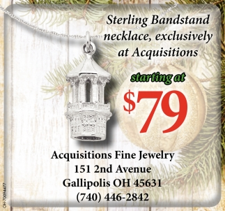 Sterling Bandstand necklace
