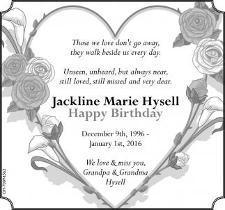 Jackline Marie Hysell