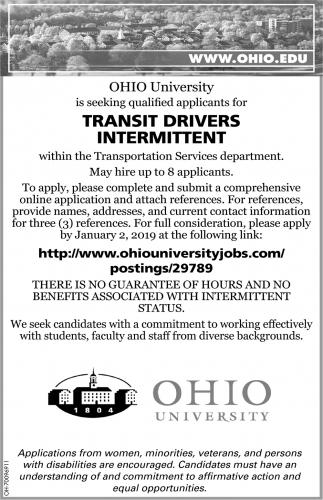Transit Drivers Intermittent
