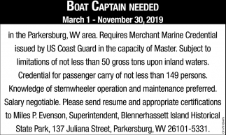 Boat Captain Needed