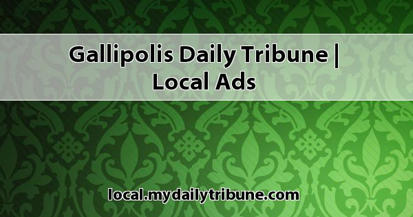 Gallipolis Daily Tribune Local Ads